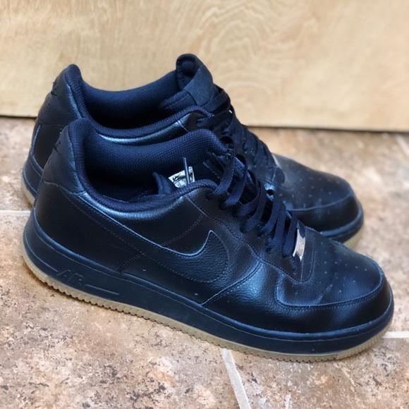 Rare Black W Gum Bottoms Air Force Ones